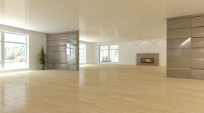 Conceito interior branco para a sala de visitas Imagem de Stock