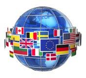 Conceito internacional de uma comunicação Fotografia de Stock Royalty Free