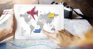 Conceito internacional de viagem do destino da viagem da viagem Fotografia de Stock