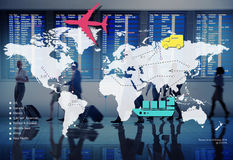 Conceito internacional de viagem do destino da viagem da viagem Imagens de Stock
