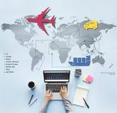 Conceito internacional de viagem do destino da viagem da viagem Imagem de Stock Royalty Free