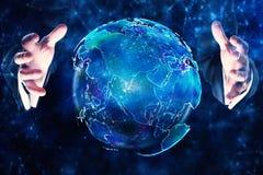 Conceito internacional do negócio e da comunicação Fotografia de Stock Royalty Free