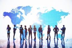 Conceito internacional do negócio e da comunicação imagem de stock royalty free