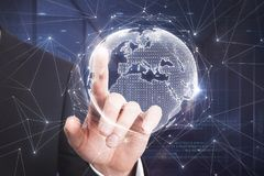 Conceito internacional do negócio e dos meios Foto de Stock Royalty Free