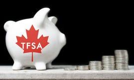 Conceito isento de impostos canadense da conta poupança imagens de stock