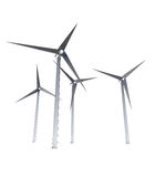 Conceito isolado da energia das energias eólicas Fotografia de Stock Royalty Free