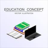 Conceito isométrico da educação e do vetor da graduação 3d de volta ao sc Imagens de Stock Royalty Free