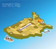 Conceito isométrico de América do mapa Fotografia de Stock Royalty Free