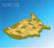 Conceito isométrico de América do mapa Imagens de Stock Royalty Free