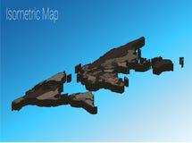 Conceito isométrico do mundo do mapa ilustração 3d lisa Imagens de Stock