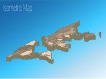 Conceito isométrico do mundo do mapa ilustração 3d lisa Fotografia de Stock