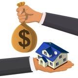 Conceito isométrico dos bens imobiliários Imagens de Stock Royalty Free