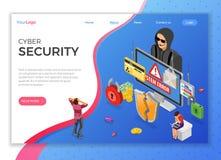 Conceito isom?trico da atividade de Phishing do hacker imagens de stock royalty free