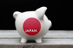 Conceito japonês da economia fotos de stock