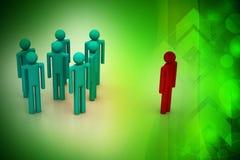 Conceito, líder e equipe da liderança Imagens de Stock Royalty Free