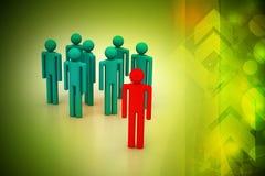 Conceito, líder e equipe da liderança Foto de Stock Royalty Free