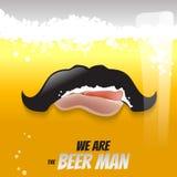 Conceito líquido da ilustração do vetor da cerveja Fotos de Stock