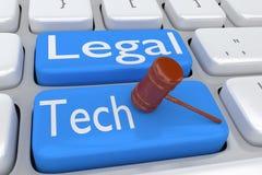 Conceito LEGAL da TECNOLOGIA ilustração stock
