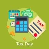 Conceito liso da finança do negócio do vetor do pagamento de imposto Imagens de Stock Royalty Free