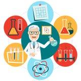 Conceito liso da química ilustração do vetor