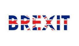 Conceito liso de Brexit no estilo da bandeira de Inglaterra Retire grande Brittany da União Europeia Reino Unido para fora da UE  ilustração stock