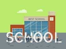 Conceito liso do vetor do estilo da melhor escola ilustração royalty free