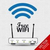Conceito livre de Wifi - sinal do roteador - ilustração do vetor - isolada no fundo transparente Imagens de Stock Royalty Free