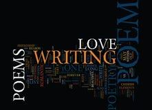 Conceito longo da nuvem da palavra do fundo de Live The Love Poem Text Foto de Stock Royalty Free