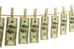 Conceito loundering do dinheiro Fotografia de Stock Royalty Free