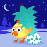 Conceito lunar do pássaro da galinha chinesa nova do ano 2017 do galo Arquivo do vetor do Grunge organizado nas camadas para a ed Imagens de Stock