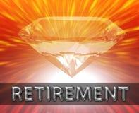 Conceito luxuoso do investimento de aposentadoria ilustração do vetor