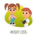 Conceito médico da perda de peso Ilustração do vetor ilustração do vetor