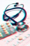Conceito médico - foto estereoscopicamente Imagem de Stock Royalty Free