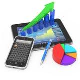 Conceito móvel da finança e da operação bancária Foto de Stock