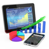Conceito móvel da finança e da operação bancária Imagens de Stock Royalty Free