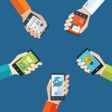 Conceito móvel das aplicações Foto de Stock