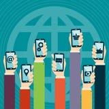 Conceito móvel das aplicações Fotos de Stock Royalty Free