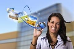 Conceito móvel do Internet Fotografia de Stock