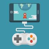 Conceito móvel do jogo, projeto liso Fotografia de Stock Royalty Free
