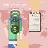Conceito móvel do pagamento Imagens de Stock