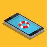 Conceito móvel do serviço de urgências Fotos de Stock Royalty Free