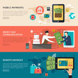 Conceito móvel dos pagamentos Fotografia de Stock