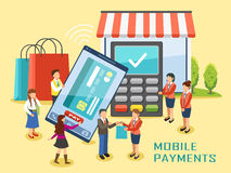 Conceito móvel dos pagamentos Fotografia de Stock Royalty Free