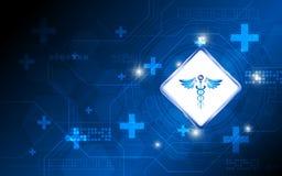 Conceito médico da inovação da farmácia do fundo abstrato do vetor Imagens de Stock