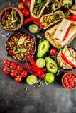 Conceito mexicano do alimento Alimento de Cinco de Mayo fotografia de stock
