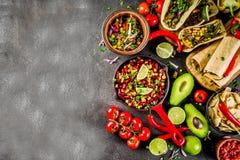 Conceito mexicano do alimento Alimento de Cinco de Mayo imagens de stock royalty free