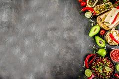 Conceito mexicano do alimento Alimento de Cinco de Mayo foto de stock