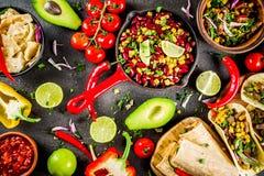 Conceito mexicano do alimento Alimento de Cinco de Mayo fotos de stock