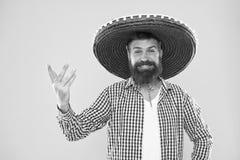 Conceito mexicano do partido Comemore o feriado mexicano tradicional Lets tem o divertimento Equipamento festivo feliz do indiv?d foto de stock