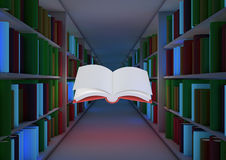 Conceito mágico da biblioteca Foto de Stock